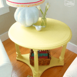 DIY Chalk Paint Side Table after 2 at thehappyhousie