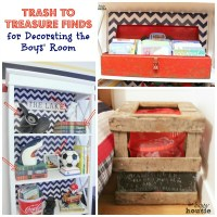 Trash to Treasure Decorating {in the Boys' Bedroom}