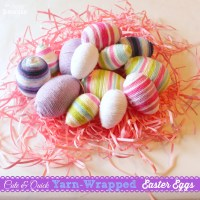 Yarn Wrapped Easter Eggs, 14 Fabulous Spring Projects {& Win a Target Giftcard!}