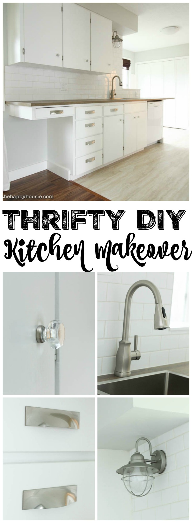 Supreme Home Depot Click Laminate Tile At Happyhousie Benjamin Moore Simply D Lawless Hardware Ikea Counter Moen Faucet Diy Kitchen Makeover houzz-03 D Lawless Hardware