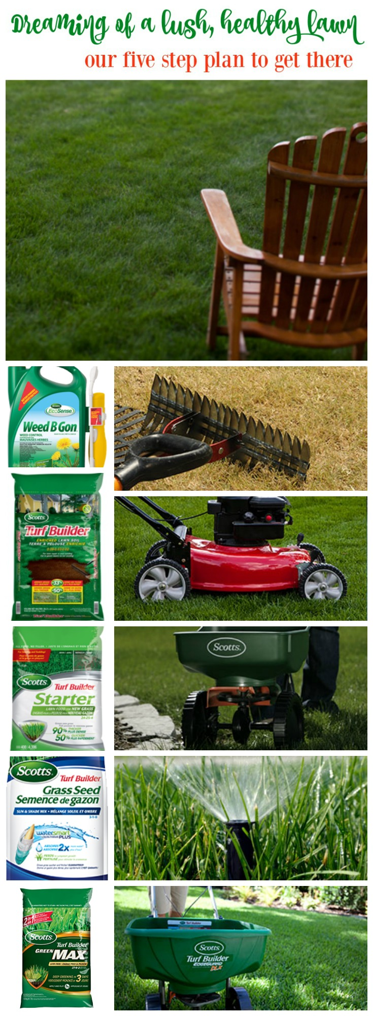 Clever Our Five Step Plan To Finally Get Rethis Before After Lawn Makeover Project Happy Housie Scotts Step 1 4 Scotts Step 1 Lawn Care Dreaming A Lush Healthy Lawn houzz-03 Scotts Step 1