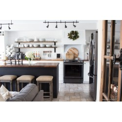 Small Crop Of Gray And White Kitchen