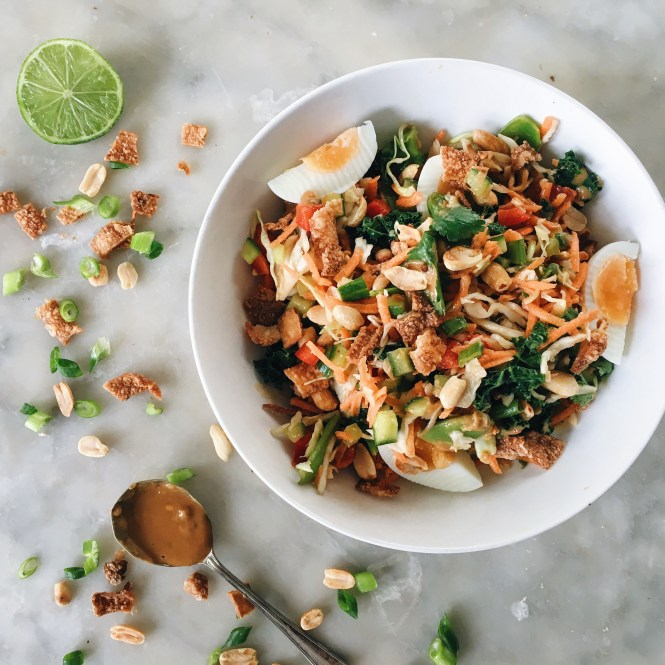 THAI CHOPPED SALAD WITH PEANUT AND LIME DRESSING 2