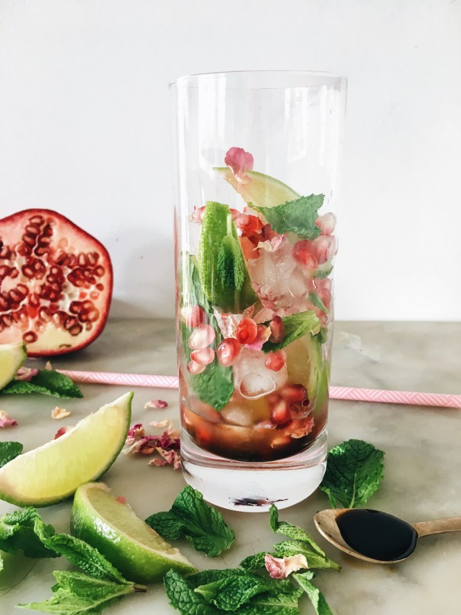 POMEGRANATE, MINT AND ROSE SPRITZ 3