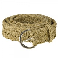 Hemp Belt with Buckle - Natural