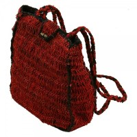 Hemp Box Style Shoulder Bag - Large