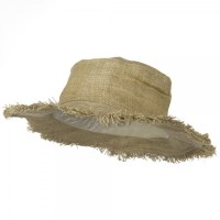 Hemp Hat with Frayed Brim - Natural