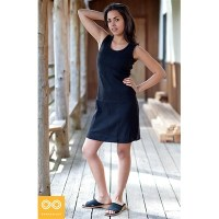 ORG. COTTON SLEEVELESS SHORT KNIT DRESS