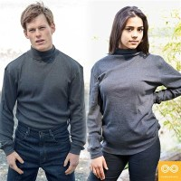 ORGANIC COTTON RIBBED TURTLENECK