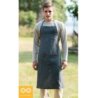 ORGANIC HEMP PROFESSIONAL CHEF'S APRON (ADJUSTABLE NECKSTRAP)