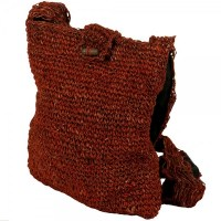 Red Closed Weave Hemp Shoulder Bag