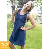 SUMMER BREEZE HEMP DRESS (HEMSTITCHED NECKLINE)