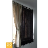 "TABBED HEMP CURTAIN PANEL (48"" X 72"")"