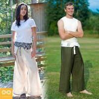 UNISEX ORGANIC LINEN THAI FISHERMAN'S PANTS