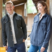 WINCHESTER UNISEX ORGANIC COTTON FLEECE-LINED TWILL JACKET