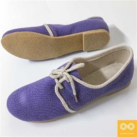 LADIES' HANDMADE SONATA ORGANIC COTTON-HEMP SHOES (NATURAL RUBBER SOLE)