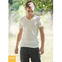 TIVOLI V-NECK SLIM-FIT HEMP T-SHIRT