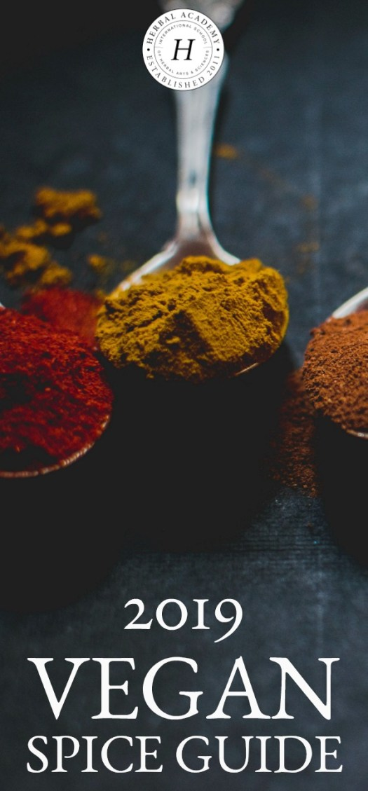 2019 Vegan Spice Guide For Vegan Cooking | Herbal Academy | Using this vegan spice guide can add depth and flavor to your vegan meals and open up a whole new world of opportunity to be creative in the kitchen.