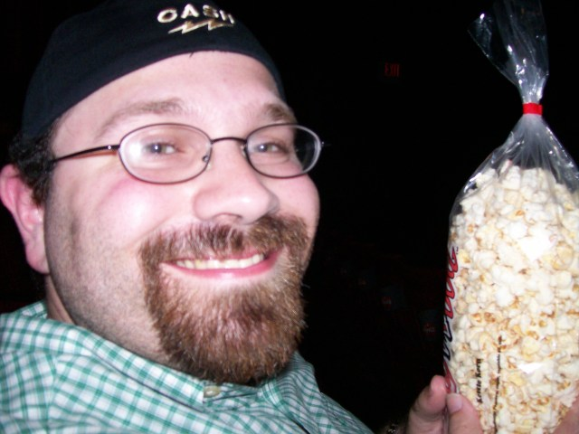 RJ at Dollywood with kettle corn