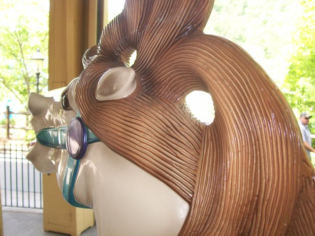 Dollywood's beautiful Carousel horses- isn't that a cool mane?