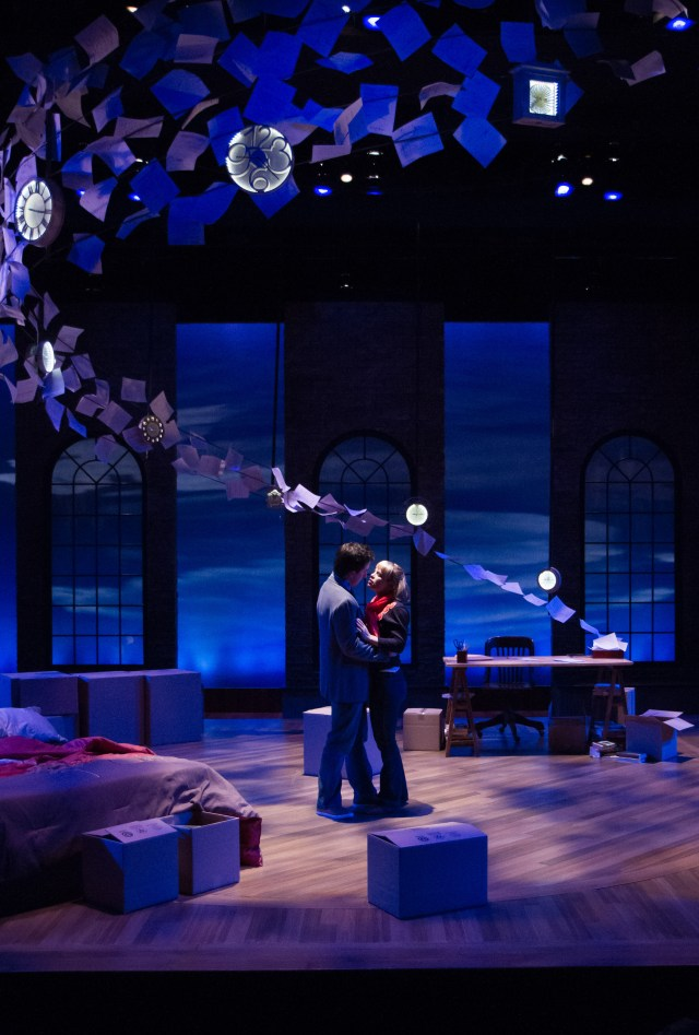 "Jamie (James Gardiner) and Cathy (Erin Weaver) can't help but fall in love in ""The Last Five Years,"" now playing at Virginia's Signature Theatre through April 28, 2013. Photo: Teresa Wood."
