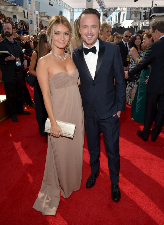 The He Said She Said Experience- Fashion Desk- 2013 Emmys- Aaron Paul