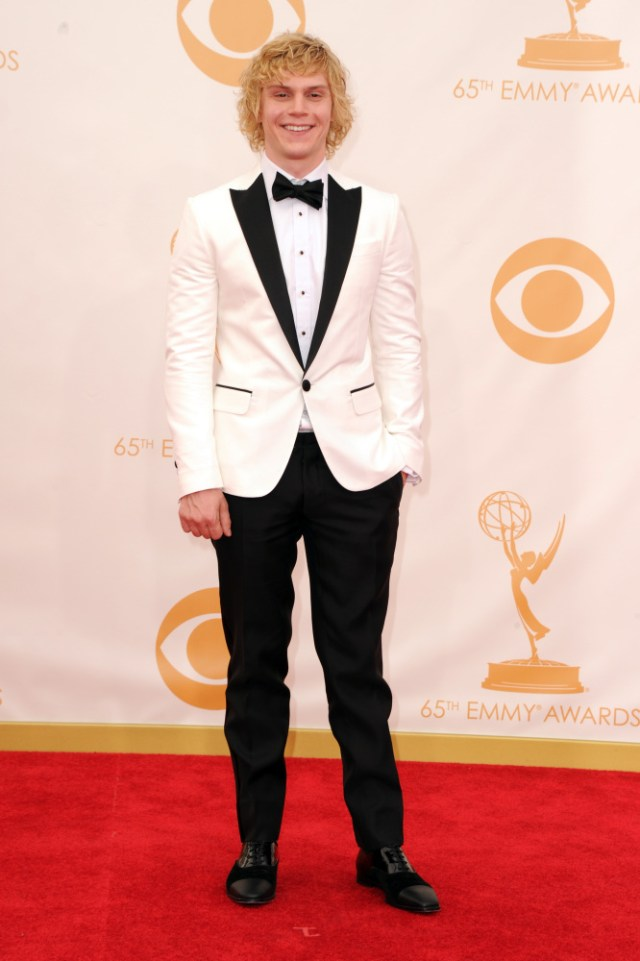 The He Said She Said Experience- Fashion Desk- 2013 Emmys- Evan Peters