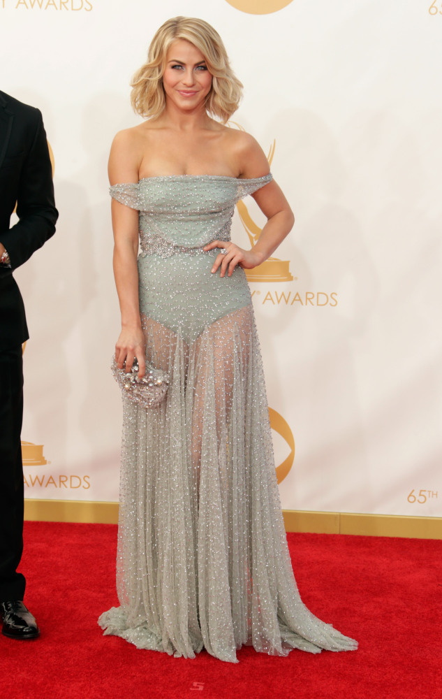 The He Said She Said Experience- Fashion Desk- 2013 Emmys- Julianna Hough in Jenny Packham