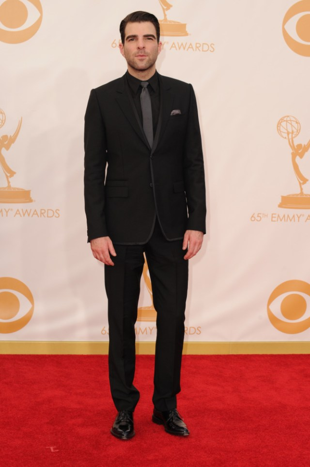 The He Said She Said Experience- Fashion Desk- 2013 Emmys- Zachary Quinto