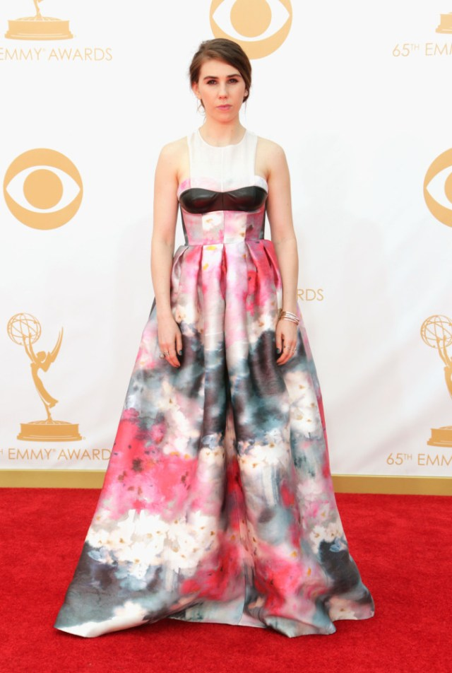 The He Said She Said Experience- Fashion Desk- 2013 Emmys- Zosia Mamet in Honor