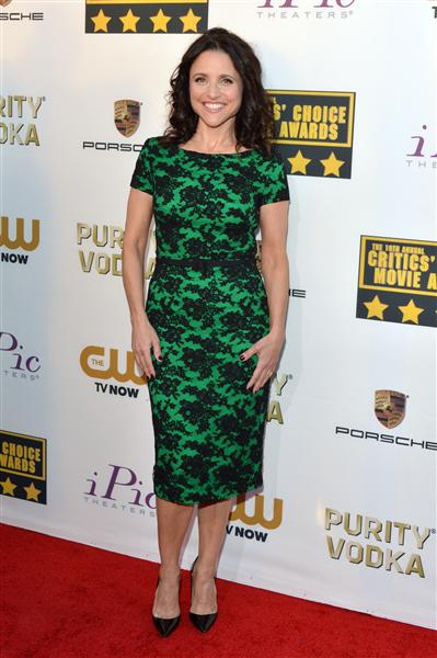 The He Said She Said Experience- 2014 Critics' Choice Movie Awards Best Dressed- Julia Louis-Dreyfus in Reem Acra