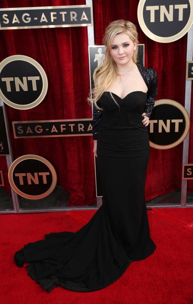 The He Said She Said Experience- 2014 SAG Awards Best Dressed- Abigail Breslin in Chagoury Couture