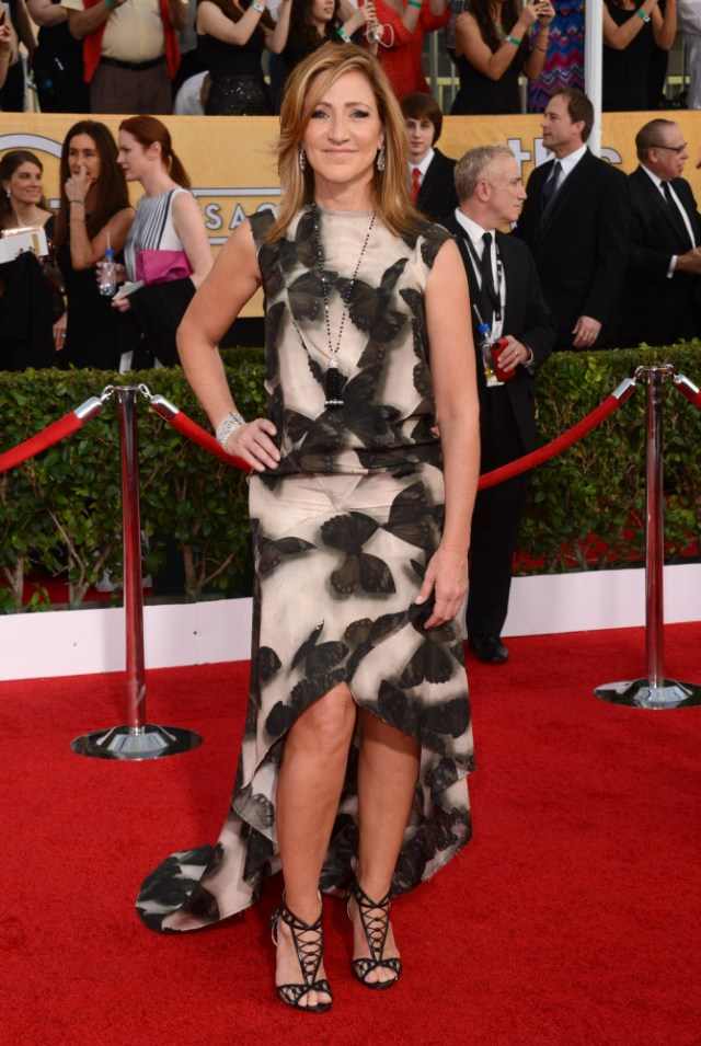The He Said She Said Experience- 2014 SAG Awards Best Dressed- Edie Falco