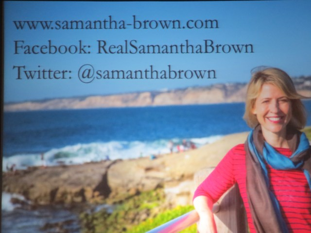 Just some more fun ways to keep up with Samantha Brown!