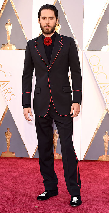 Jared Leto in Gucci- 2016 Oscars Red Carpet- Best Dressed by The He Said She Said Experience