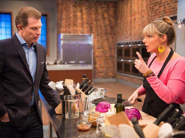 """Bobby Flay and Damaris chat in """"A Star is Chopped"""""""