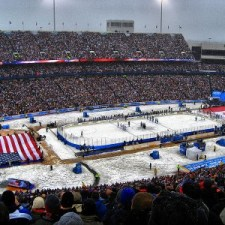 The outdoor game has been a staple in the NHL schedule since 2008 (Credit: Krm500, Via Wikipedia Commons.)