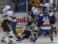 Videos: Brent Johnson Fights Again, Suspensions, Fines, Penguins-Islanders Ends in Mayhem