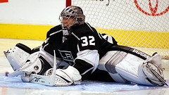 Jonathan Quick's Performance Will Help Determine The Kings' Fate (Photo by Mike Burns).