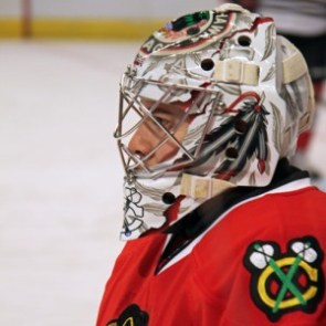 Corey Crawford of the Chicago Blackhawks