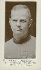 A rare Bert Corbeau hockey card from 1923