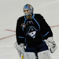 Mark Dekanich in 2011 with the Milwaukee Admirals.  Now with  KHL Medveščak, he is the type of skater Zagreb is looking to build a champion from.