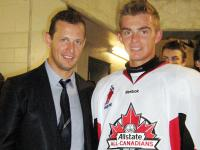 Eric Cornel (right): selected 3rd overall in 2012 OHL Priority Draft by Peterborough Petes