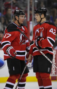 Adam Larsson and Ilya Kovalchuk Devils