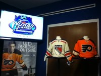 The Winter Classic jerseys on display (JJohnson/THW)