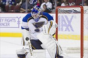 Brian Elliott leads the Blues with 15 wins and 5 shutouts this season. (Bob Frid/Icon SMI)