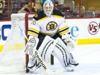 Tim Thomas will likely draw interest from teams such as the Flyers (and maybe the Islanders), but what will it cost to bring the netminder over? (Photo Credit: Andy Martin Jr)
