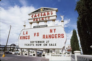 Kings Rangers Las Vegas outdoor hockey game