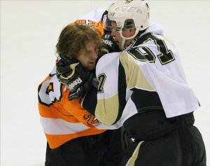 Were the Pens keeping score when Sidney Crosby broke Claude Giroux's wrist with countless slashes in 2012?