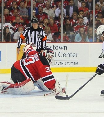 It appears the Devils finally found Martin Brodeur's successor in net. (Ed Mulholland-US PRESSWIRE)